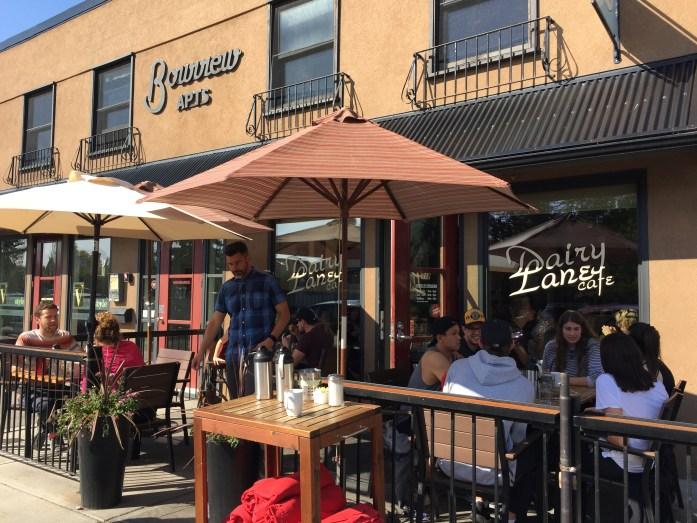 Dairy Lane Cafe patio.