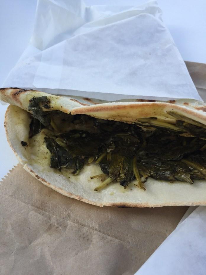 Spinach & feta pita pie.