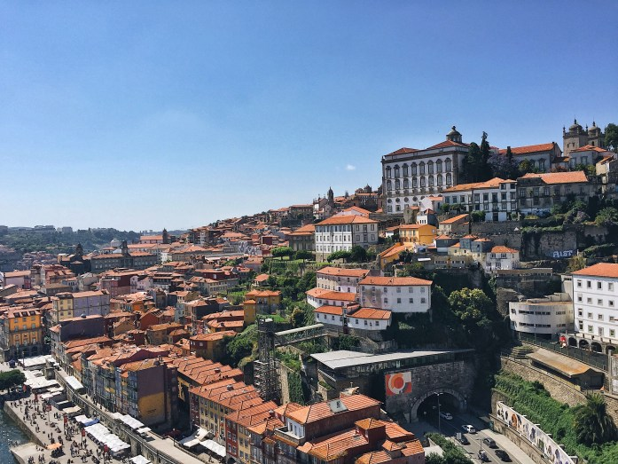 One of the gorgeous viewpoints in Porto from Dom Luis I Bridge.