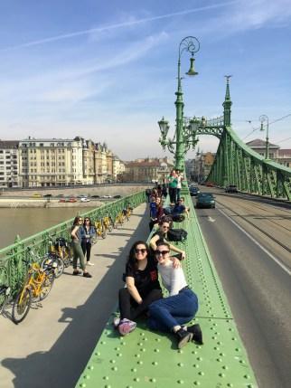Bike Break on the Liberty Bridge