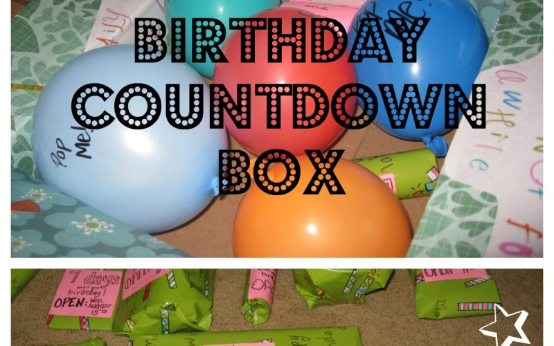 Birthday Countdown Box