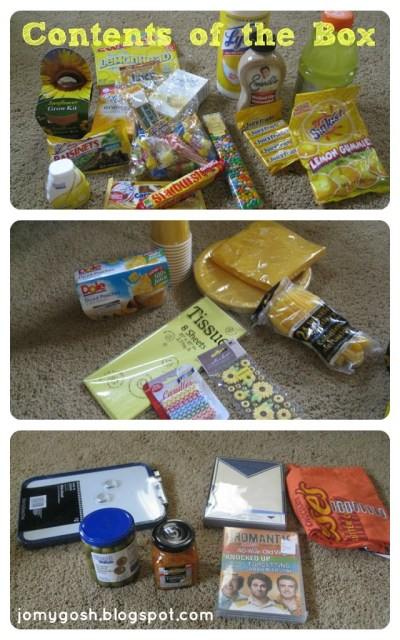 Send a box of sunshine with this care package. Perfect for deployed military, college students, or missionaries.