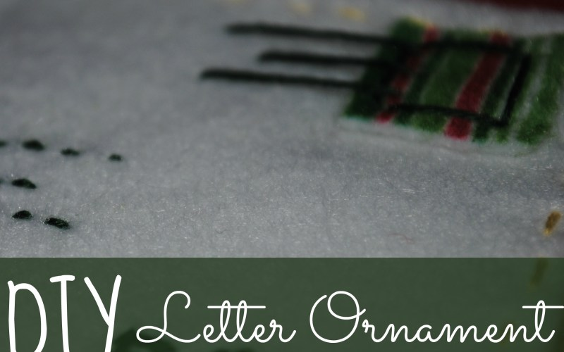 DIY Letter Ornament
