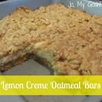Spring Fling, Day 1: Lemon Creme Oatmeal Bars