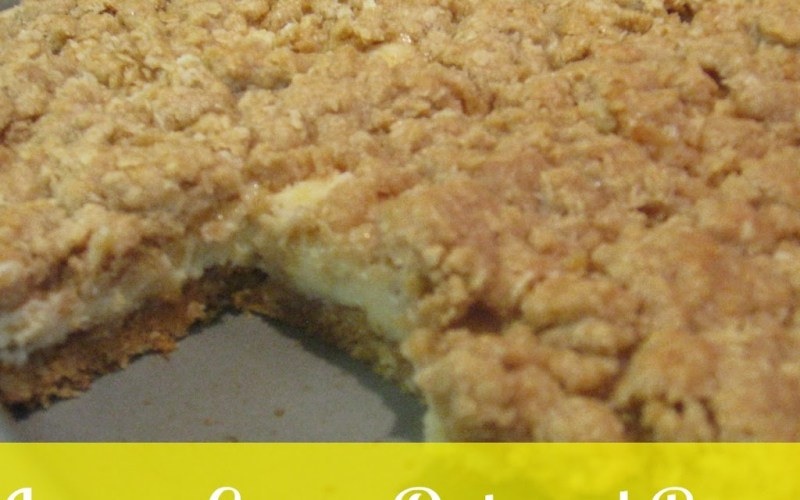 Spring Fling, Day 1: Lemon Creme Oatmeal Bars