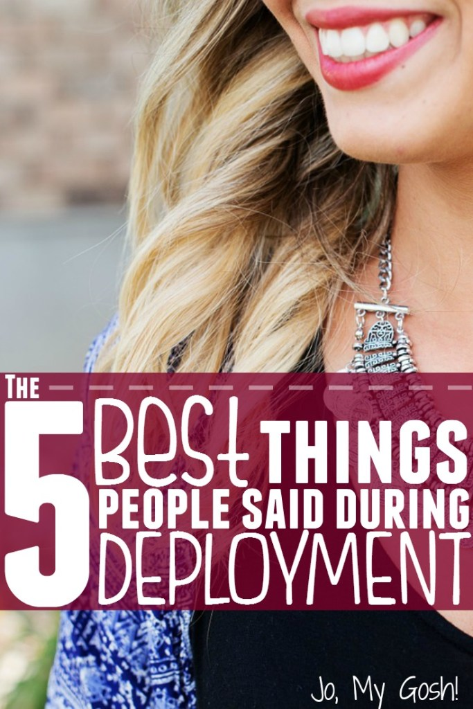 Talking about deployment can be trick-- people often don't know what to say.