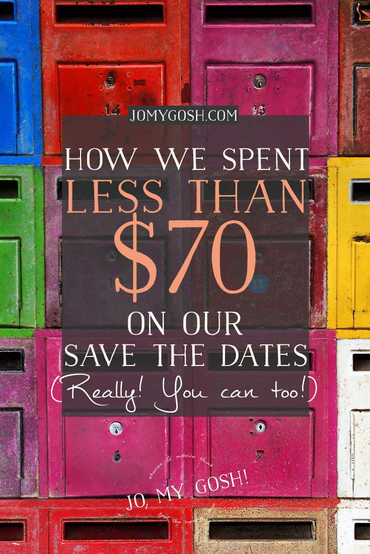 how we spent less than 70 on our save the dates