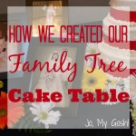 How We Created Our Family Tree Cake Table
