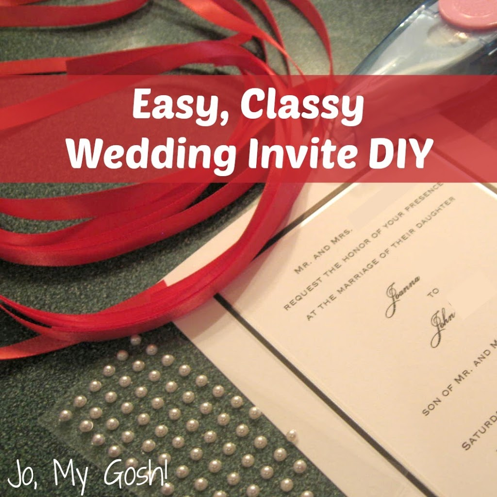 The Easiest DIY Wedding Invites Ever!