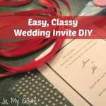 The Easiest DIY Wedding Invites Ever!