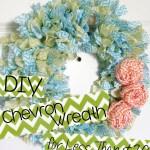 DIY Chevron Wreath
