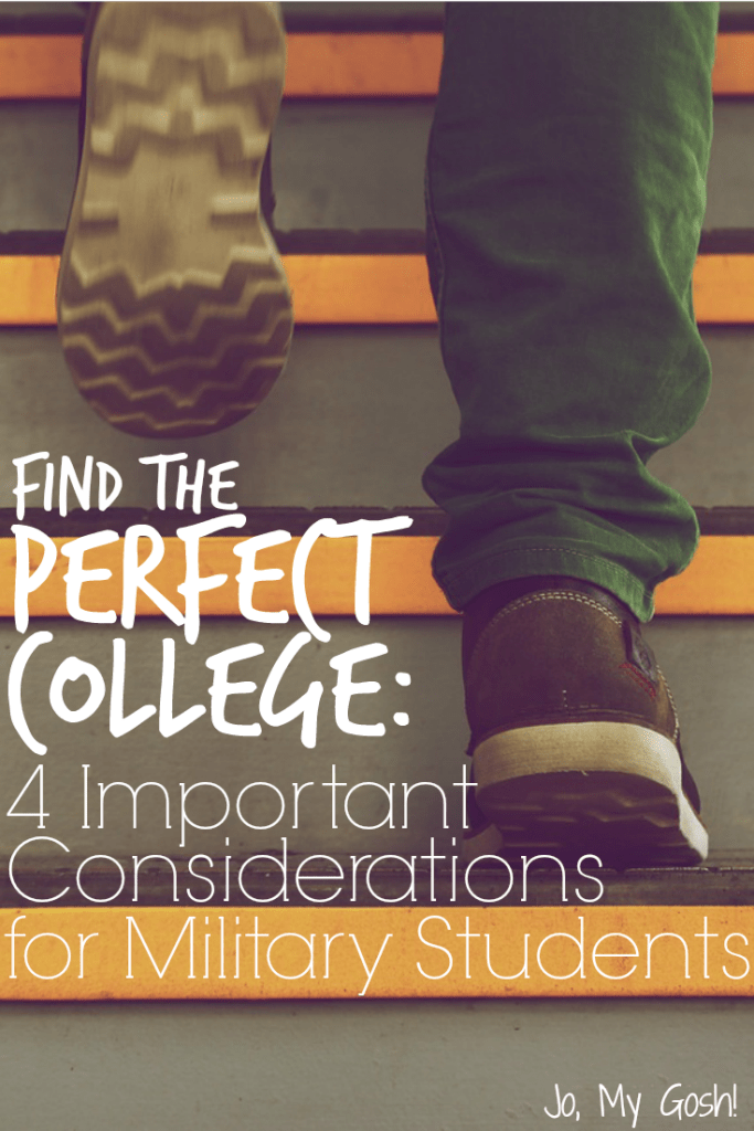 Finding the right college fit is tough-- especially for active duty military or vets. 4 things to take into consideration for the college search.