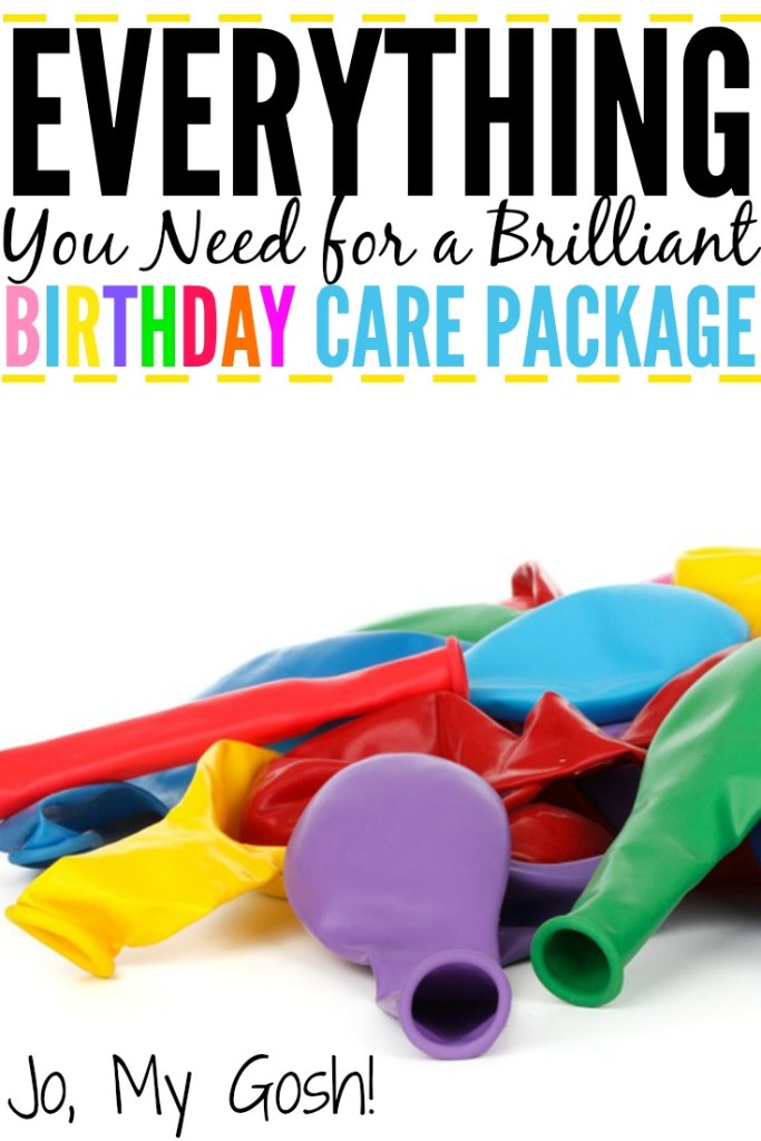 Tons of care package ideas, recipes, gifts, and DIYs for a birthday care package. Perfect for military, college students, and missionaries.