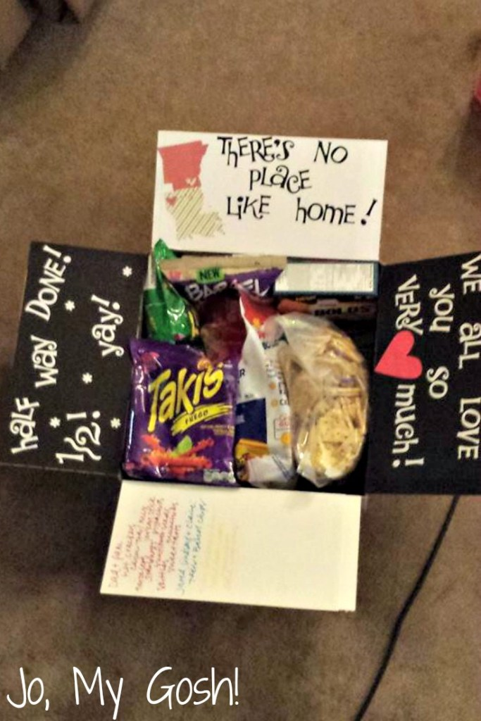 No place like home care package idea for long distance relationships and deployments. milspouse, milso, ldr