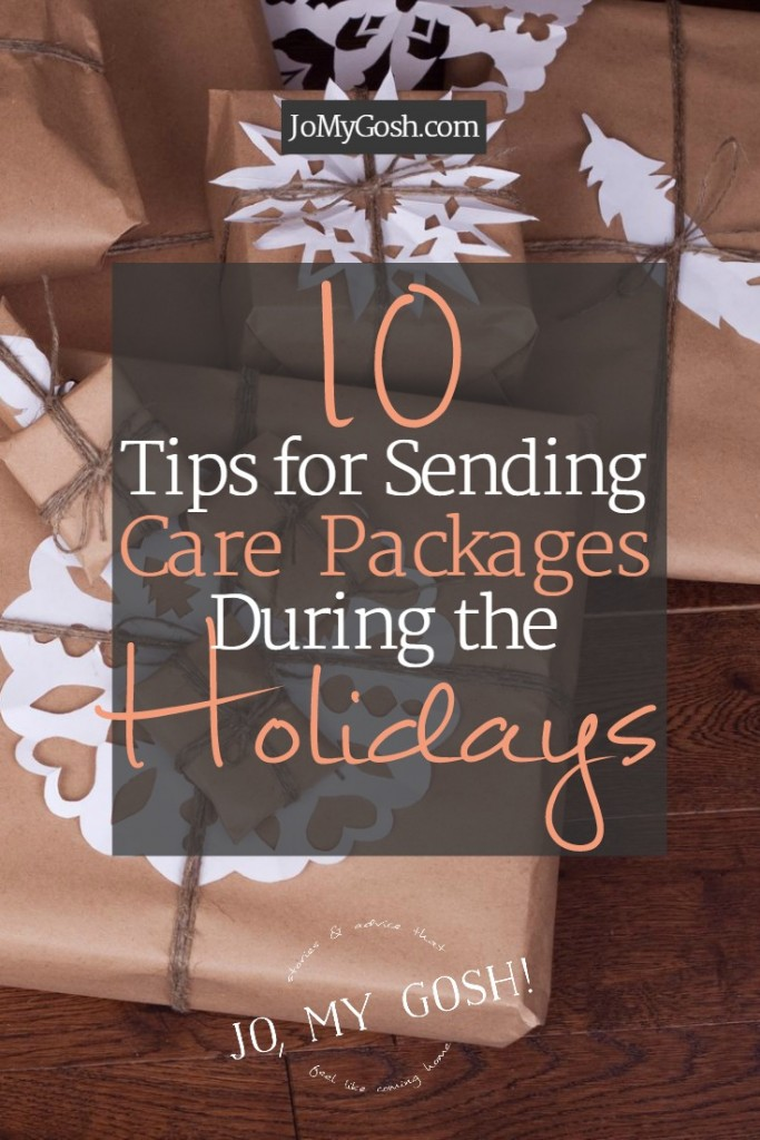 Holiday care package tips including mail deadlines, what to send, and ideas for how to ship cookies.