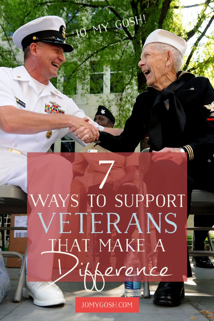 Great suggestions for making a difference in a veteran's life.