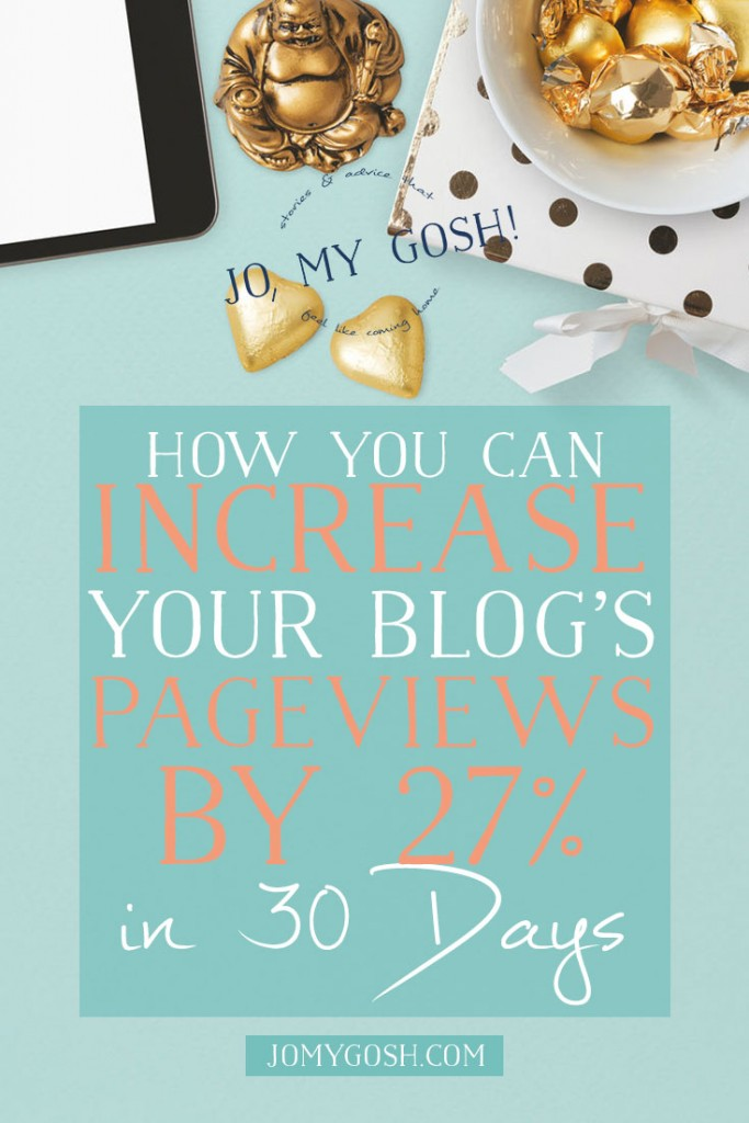 She increased her pageviews by 27% in one month and is sharing how she managed to grow her blog that much!