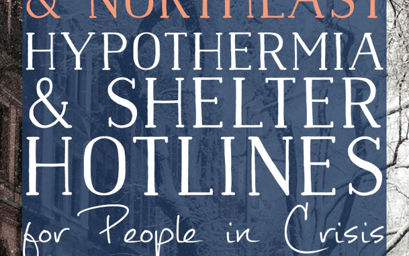 Mid-Atlantic and Northeast US Hypothermia Hotlines