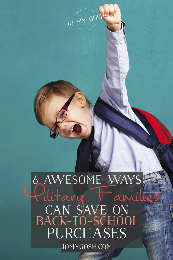Save more money on back to school. #military #discount #ad