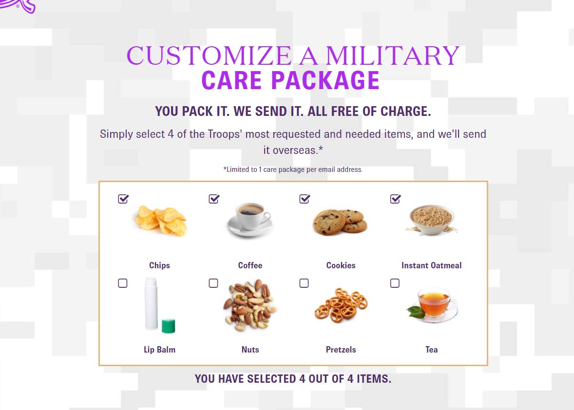 Free care package opportunity