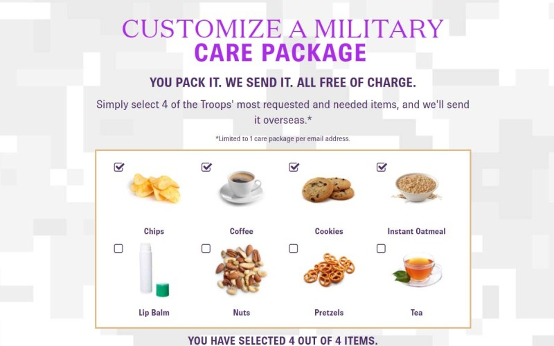 How to Send a Completely Free Deployment Care Package