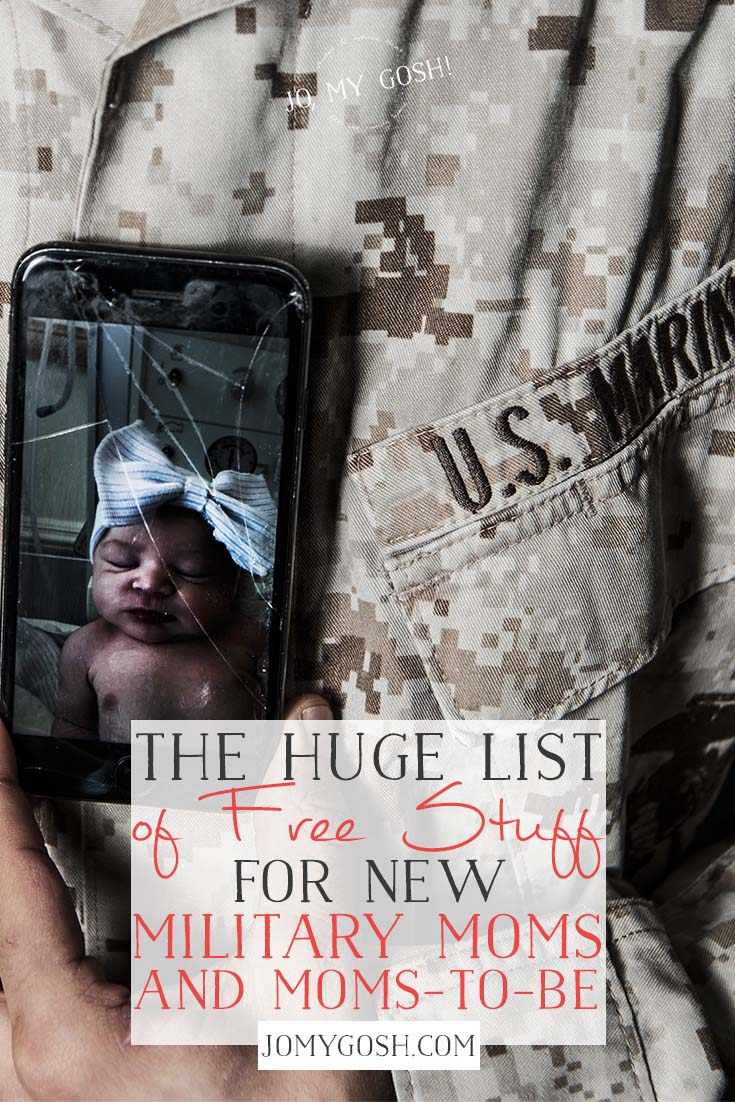 free stuff for military moms and pregnant military moms! love this list!