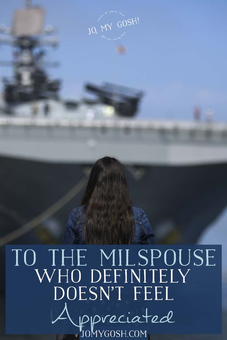 As a military spouse, you deal with a lot. PCSes, deployments, career transitions, frustrations, disappointments, hurry-up-and-wait. And sometimes it just doesn't feel like anyone cares. This is for you.