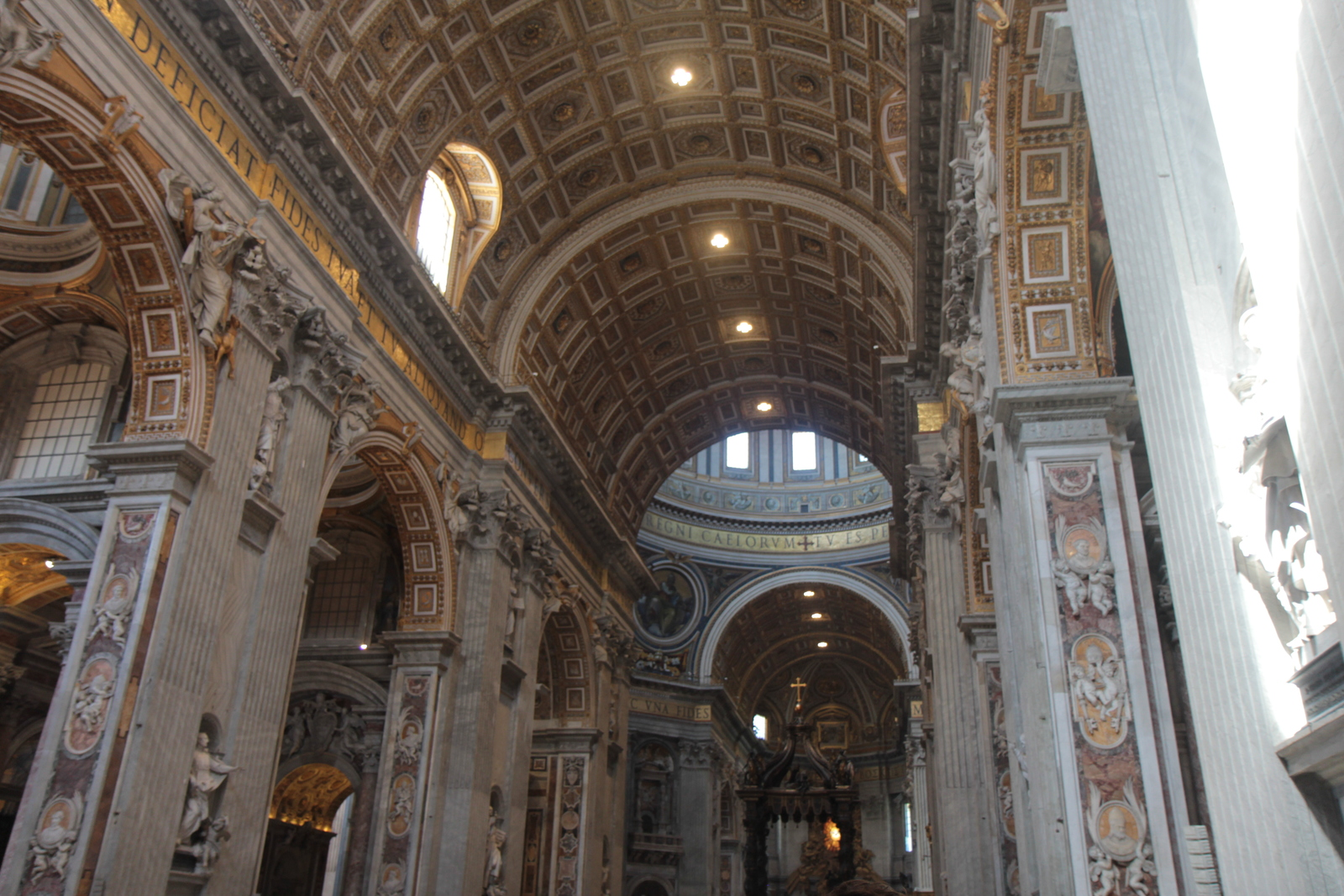 The massive vault of St. Peter's Basilica.