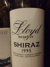 1995 Coriole Shiraz Lloyd Reserve