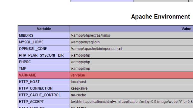 Apache Environment