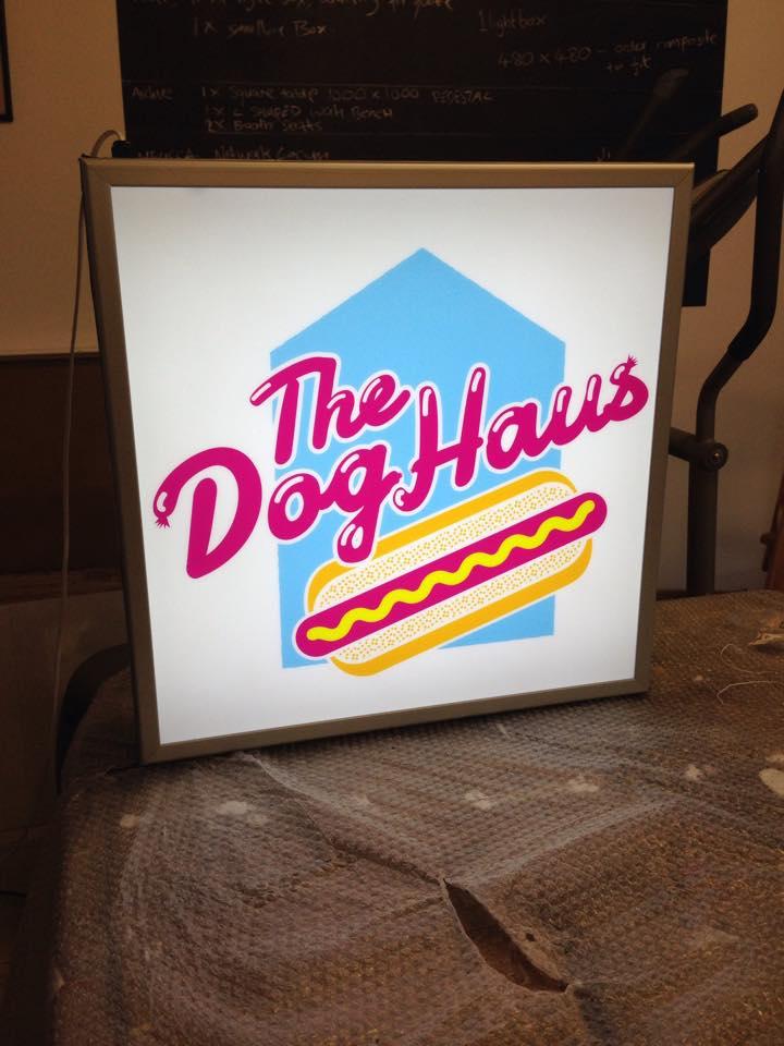 The Dog Haus - custom light box