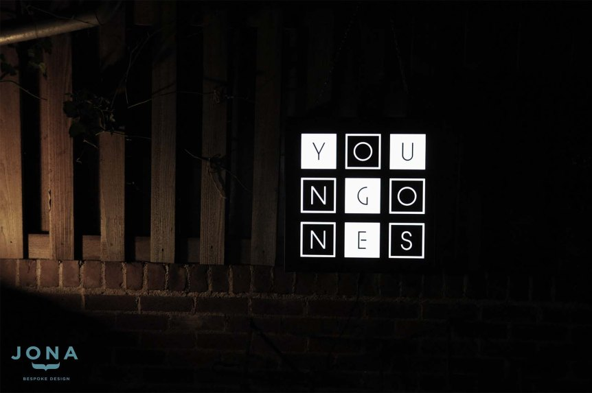 YoungOnes- two sided custom made light boxes