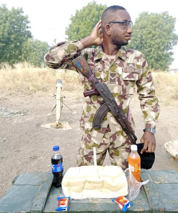 [Photos] Nigerian Soldier Celebrate Birthday In Grand Style