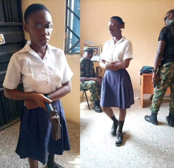 Angry Secondary School Student Caught Today With A Local Gun To Kill Her Teacher