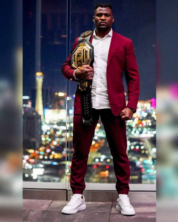 How Francis Ngannou UFC celebrated His Victory