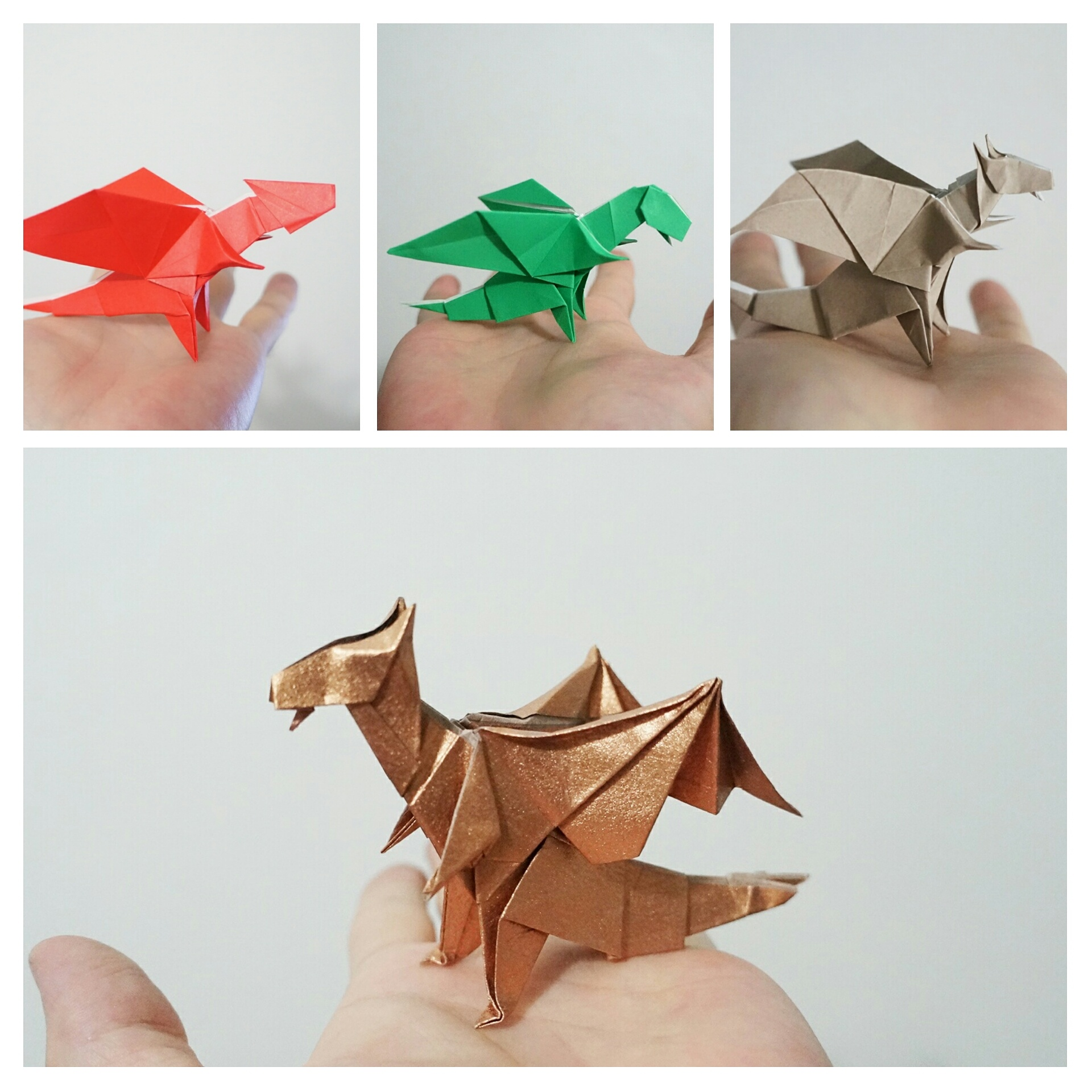 16 Cute Little Origami Dragons | 1920x1920