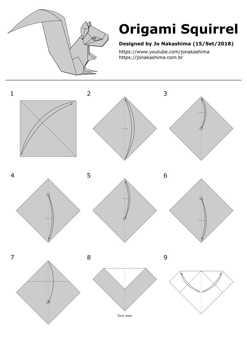 Astonishing Origami Squirrel Jo Nakashima Wiring Digital Resources Inamapmognl