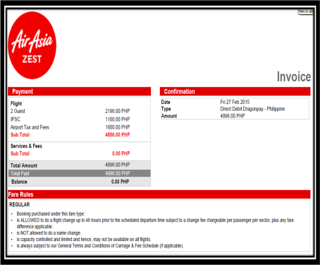 I just added 20 kgs of baggage this week and chose a preferred window seat this week to which I shelled out PhP1,690.