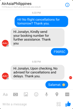 Setting up my good mood is Air Asia's fast customer service. Allelujah! Flight is confirmed.