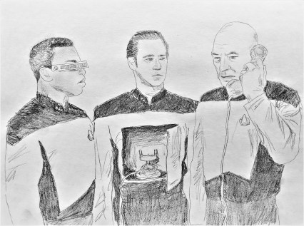 Star Trek TNG - Picard, Data, and La Forge