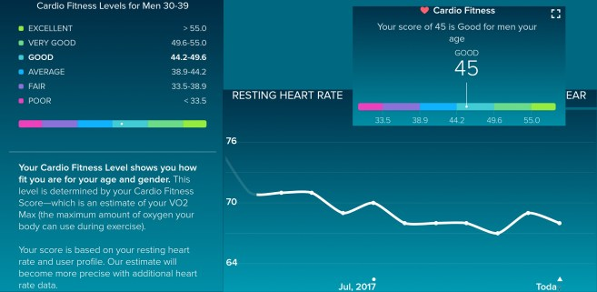 Resting Heart Rate & Cardio Level
