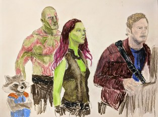 Guardians of the Galaxy - Peter Quill, Gamora, Drax, and Rocket
