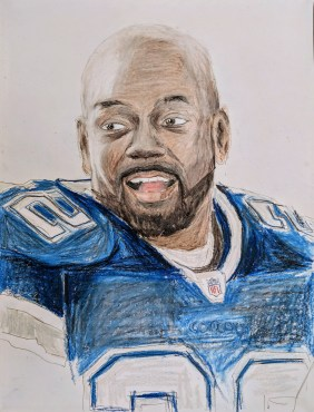 Emmitt Smith, Dallas Cowboys Legend. Well, it's supposed to be, anyway.