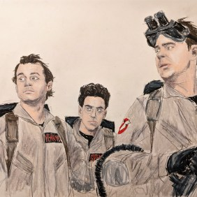 Peter Venkman, Ego Spengler, and Ray Stanz. Just pretend Winston Zeddmore is off-camera...he should have been here too.