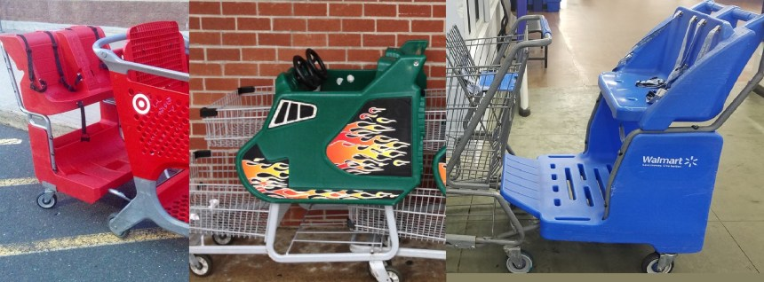 Two Kid Shopping Carts Amdall Combo3