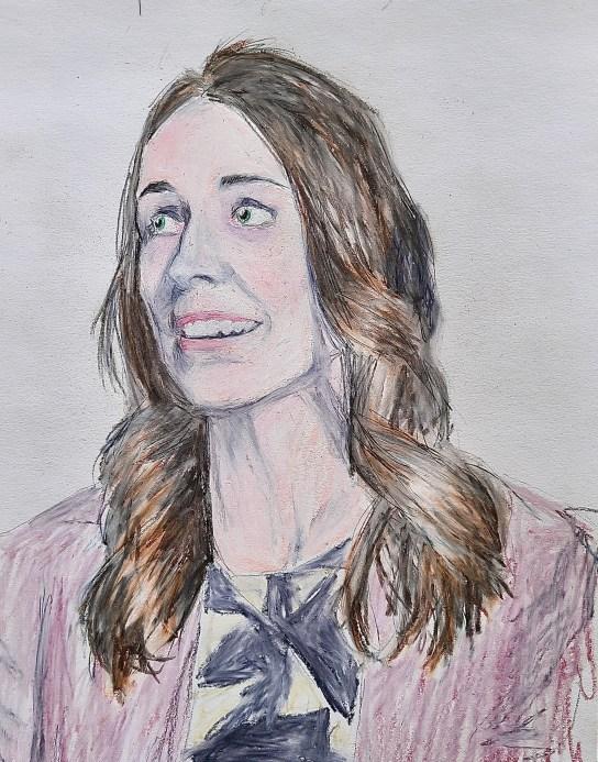 Portrait of New Zealand Prime Minister Jacinda Ardern, Amdall Gallery