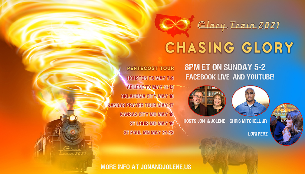 TONIGHT—WHEN THE GLORY CHASES YOU! FB LIVE with Chris Mitchell, Lori Perz, Jon & Jolene