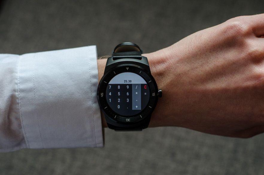 Taschenrechner auf der LG G Watch R