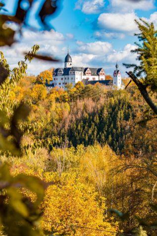 Schloss Rochsburg im Herbst