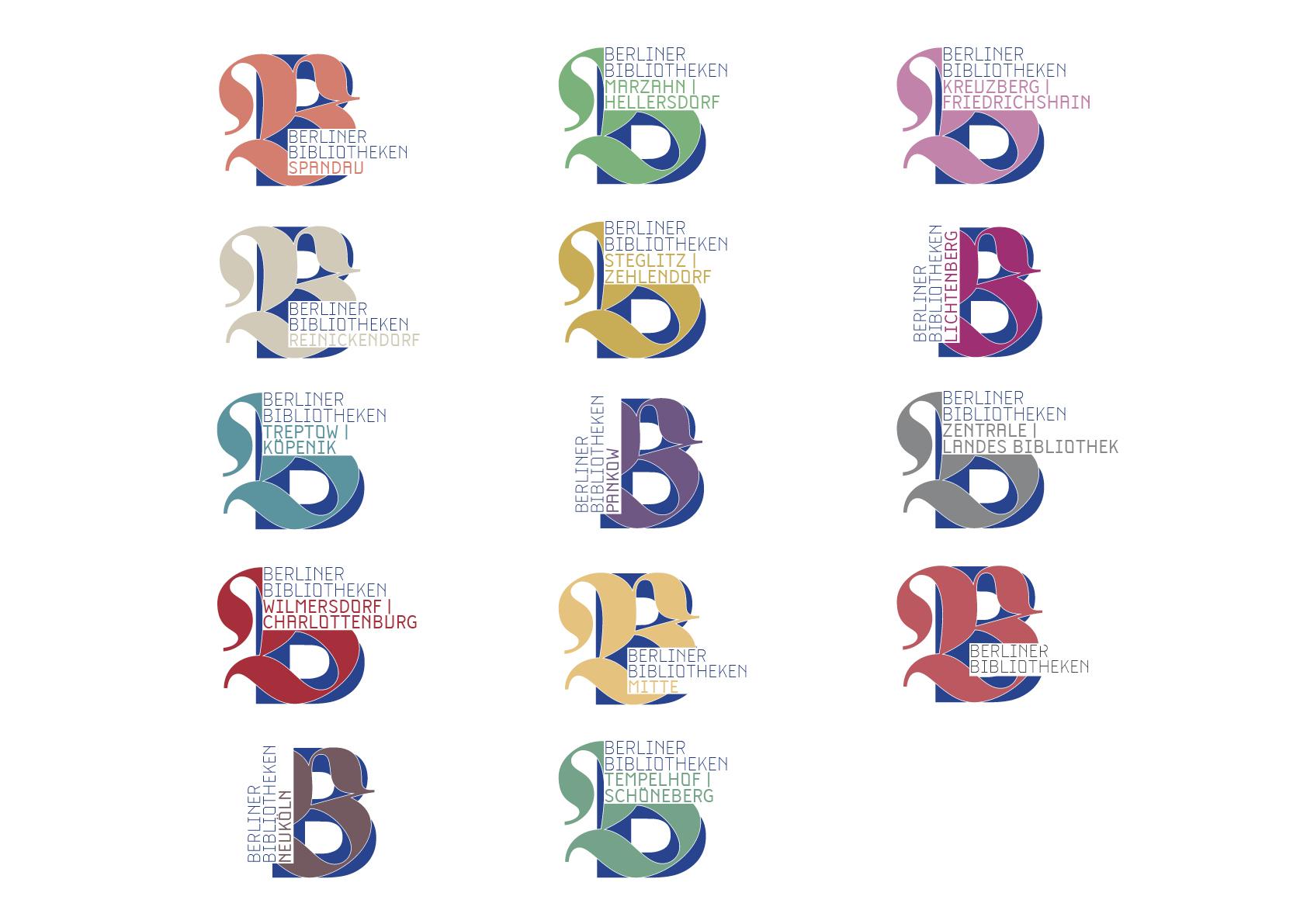 Logos für die Bezirke